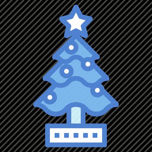 christmas, nature, pine, tree, yard icon