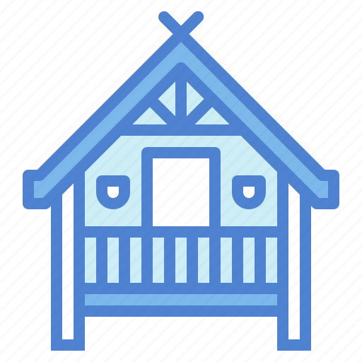 architecture, cabin, hut, wood icon