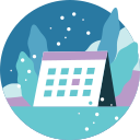 activity, background, calendar, snowfall, winter icon