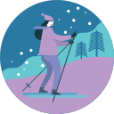 activity, ski, skiing, winter icon