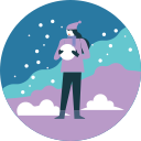 activity, snowball, winter, fun, snowfall icon