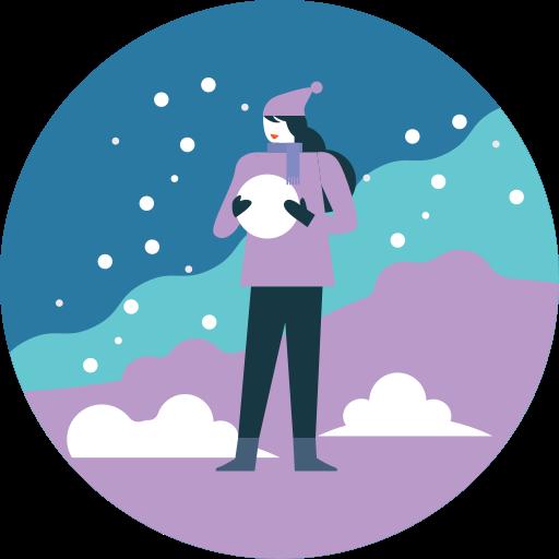 activity, fun, snowball, snowfall, winter icon