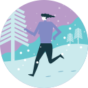 active, activity, run, sport, warm, winter, workout icon