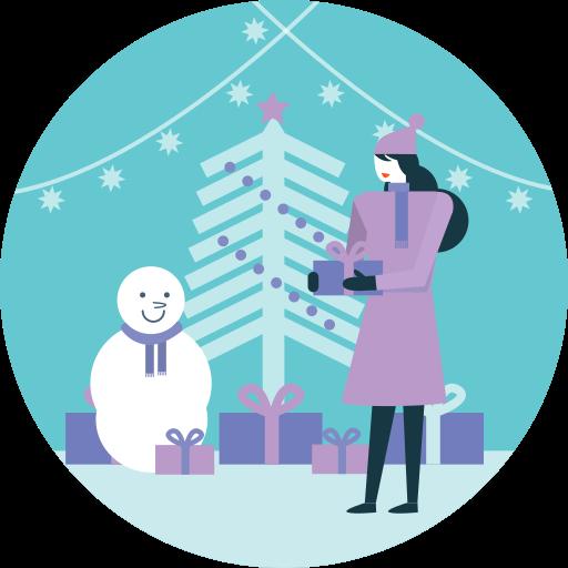 activity, gift, merry christmas, snowman, tree, winter, xmas icon