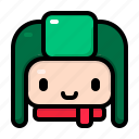 avatar, trapper, outfit, winter, christmas, character, hat icon