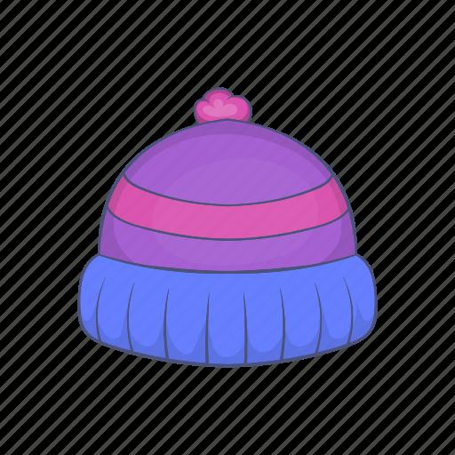 Blue, cap, cartoon, hat, knit, warm, winter icon - Download on Iconfinder