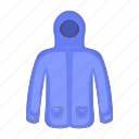 back, cartoon, fashion, hoodie, side, sweater, template icon