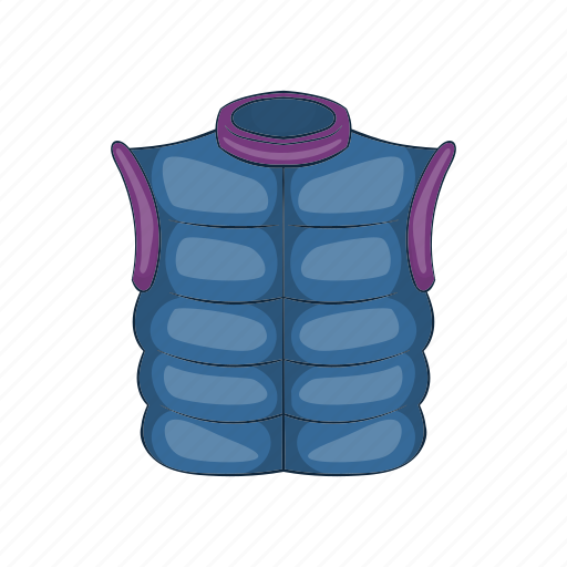 back, cartoon, clothing, quilted, vest, waistcoat, winter icon