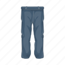 cartoon, clothes, clothing, fashion, jeans, male, pants icon