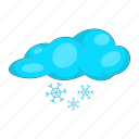 cartoon, cloud, season, snow, snowflake, weather, winter icon