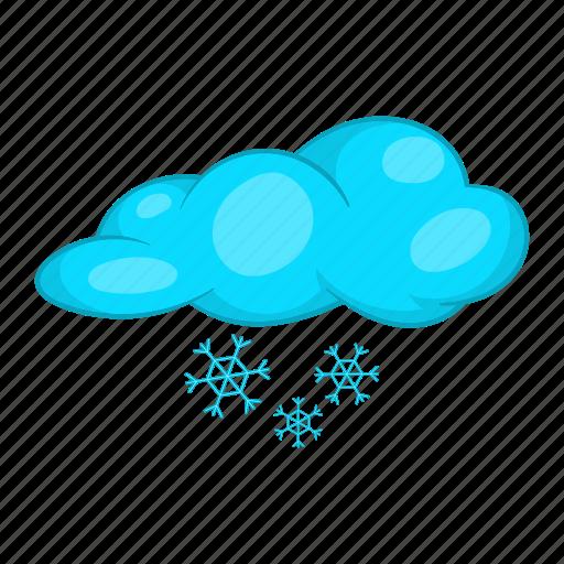 cartoon, cloud, season, snow, snowflake, weather, winter icon