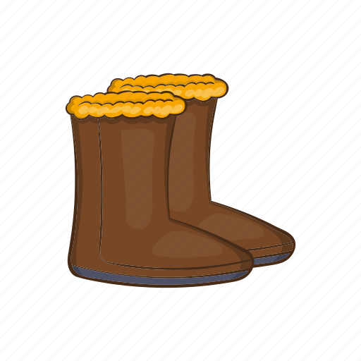 Boot, cartoon, clothing, cold, shoes, snow, winter icon - Download on Iconfinder
