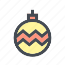 bauble, waether, winter icon