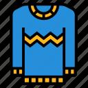 cloth, cold, fashion, sweater, winter icon
