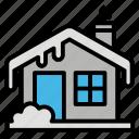 house, season, snow, winter icon