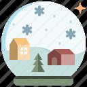 ball, christmas, crystal, decoration, snow, winter, xmas