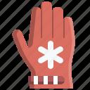 cold, fashion, glove, hand, protection, snowflake