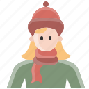 avatar, cold, fashion, sweater, user, winter, woman