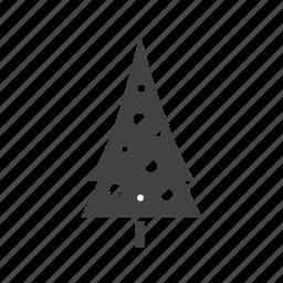 christmas, cold, snow, tree, trees, white, winter icon
