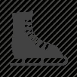 ice, skate, skates, snow, sport, winter icon