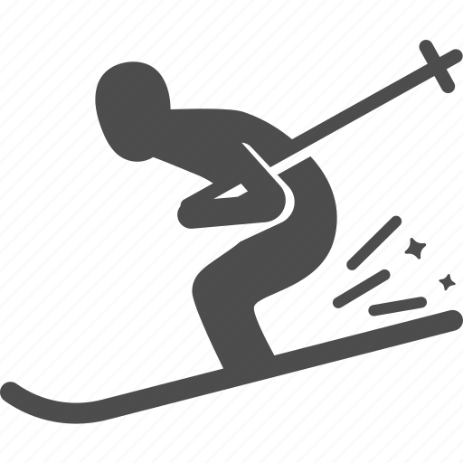 ski, snow, sport, winter icon