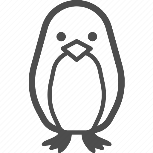 animal, bird, penguin, winter icon