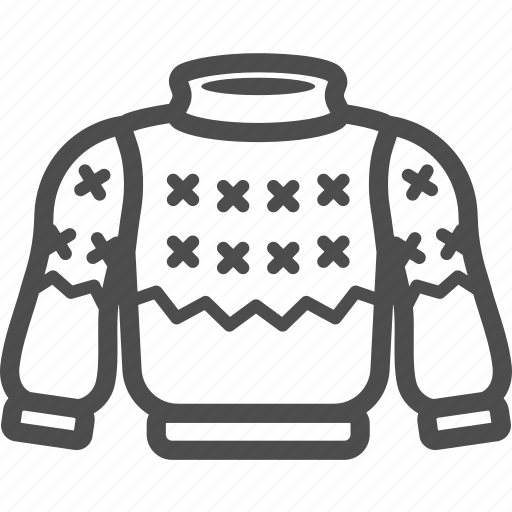 christmas, knitting, shirt, sweater, turtlenecks, winter, wool icon