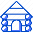 cabin, cold, holiday, sky, snow, snowfall icon