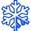 cold, holiday, sky, snow, snowfall, snowflake icon