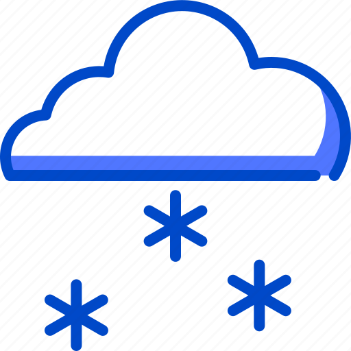 cold, holiday, sky, snow, snowfall, snowing icon
