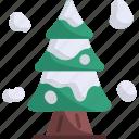 winter, nature, christmas tree, tree, pine tree, snow, cold icon