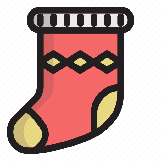 cold, holiday, sock, winter icon