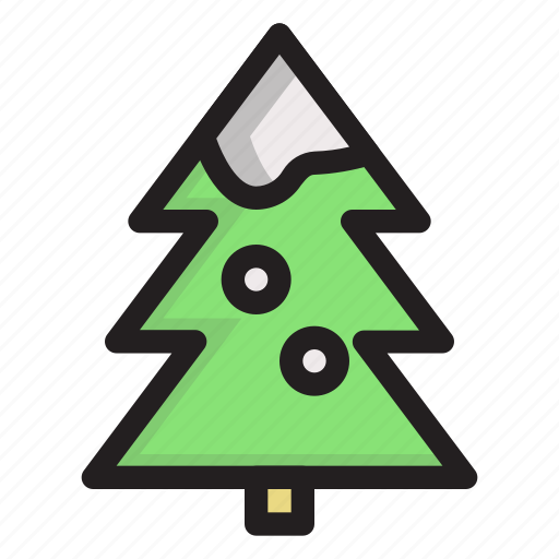 cold, holiday, tree, winter icon