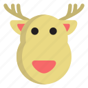 cold, deer, holiday, reindeer, winter icon
