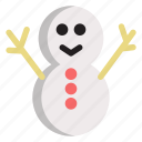 cold, holiday, snowman, winter icon