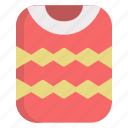 apparel, cold, holiday, sweater, winter icon
