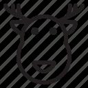 cold, deer, holiday, reindeer, winter