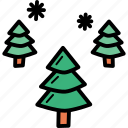 christmas, new, snow, tree, trees, winter, year icon