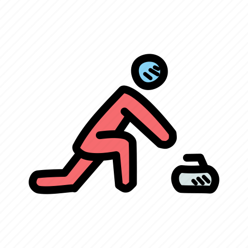 competition, curling, match, olympics, snow, sports, winter icon