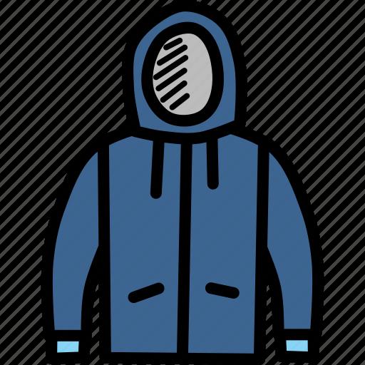apparel, clothing, hoodie, season, sweater, winter icon