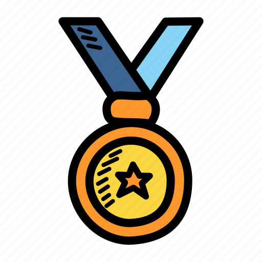 achievement, award, champion, honor, medal, winner icon