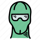 apparel, clothing, face, mask, skiing, snow, winter icon