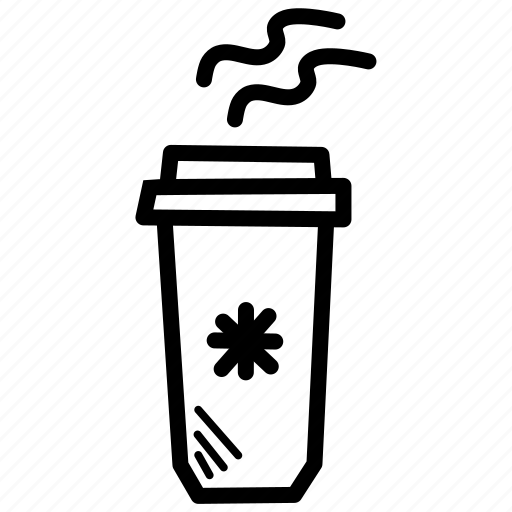 beverage, coffee, cold, cup, drink, hot icon