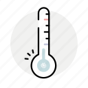 cold, temperature, thermometer, winter icon