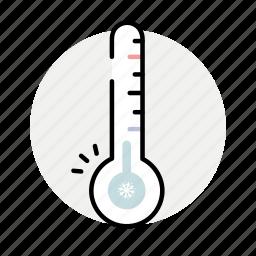 cold, temperature, thermometer, winter icon