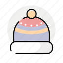 cap, hat, winter icon