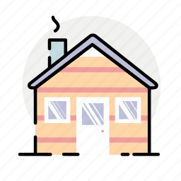 house, winter, wooden icon