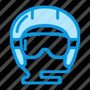 goggles, helmet, sport icon