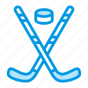 hockey, ice, sport, winter icon