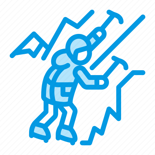 Climbing, ice, mountain icon - Download on Iconfinder